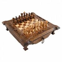 Шахматы резные в ларце с ящиками 40 Haleyan
