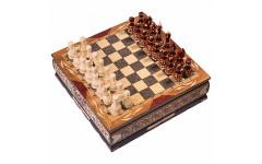 Шахматы резные ручной работы в ларце большие