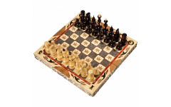 Шахматы резные ручной работы С Гербом средние