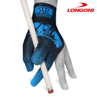 Перчатка Renzline Billiard Player Velcro черная/голубая