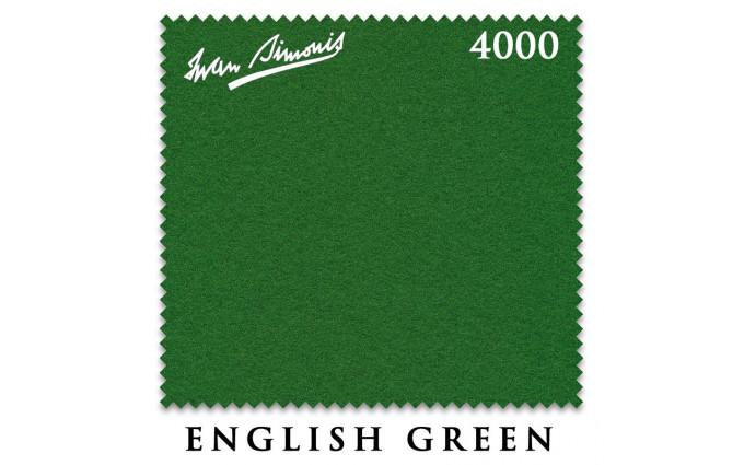 Сукно Iwan Simonis 4000 snooker 193см English Green