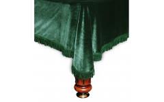 Покрывало Милано 12фт бархат зелёное/зеленая бахрома