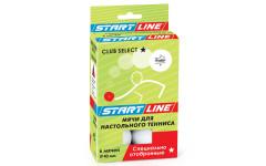 Мячи теннисные Start Line Club Select 1* 6шт белые