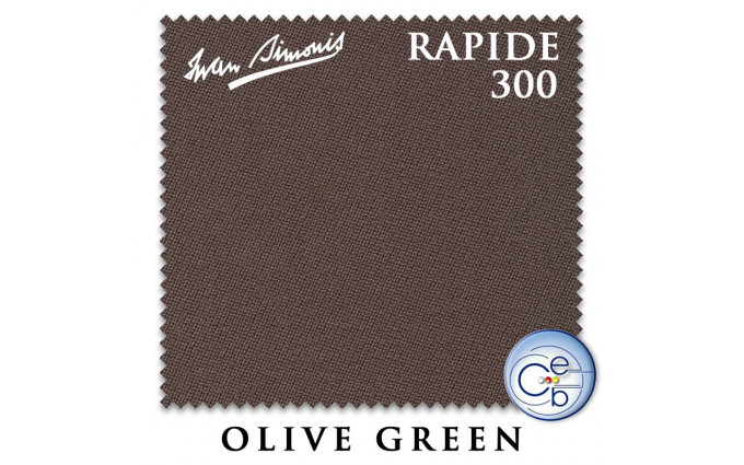 Сукно Iwan Simonis 300 Rapide Carom 195см Olive Green