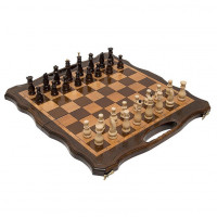 Шахматы + нарды резные 50 с ручкой