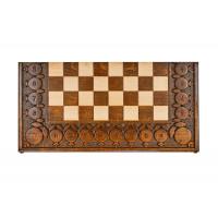 Шахматы + нарды резные с гранатами 60, Haleyan