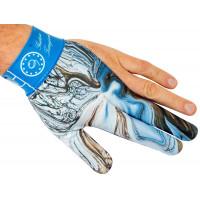 Перчатка бильярдная на левую руку с принтом в голубых тонах, Longoni, коллекция Gustavo Torregiani