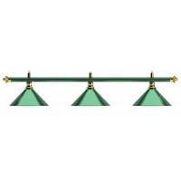 Лампа на три плафона «Allgreen» D35 (зелёная штанга, зелёный плафон D35см)