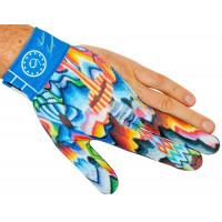 Перчатка на левую руку, с голубым принтом, Longoni Gustavo Torregiani