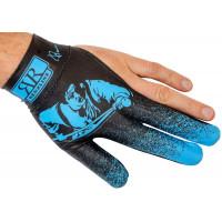 Перчатка для кия черно-синяя от Longoni, серия Renzline, коллекция Renzo Longoni Player