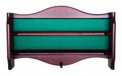 Полка для шаров навесная (махагон, 64 х 39 х 10,5 см. с сукном)