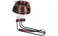 Комплект луз c выкатом, кожаное плетение RU08, лен (68 мм)