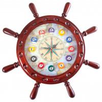 Часы настенные «Штурвал» 50 см х 50 см, деревянные