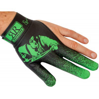 Перчатка для бильярда на левую руку черно-зеленая, коллекция Renzo Longoni Player из серии Renzline